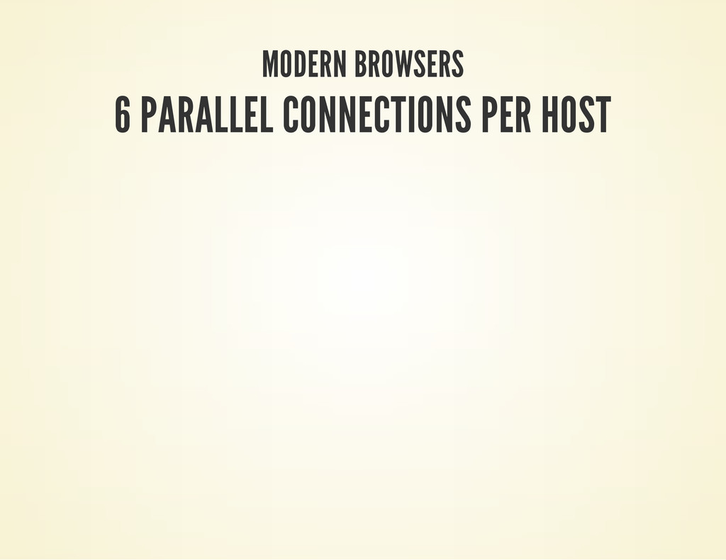 MODERN BROWSERS 6 PARALLEL CONNECTIONS PER HOST