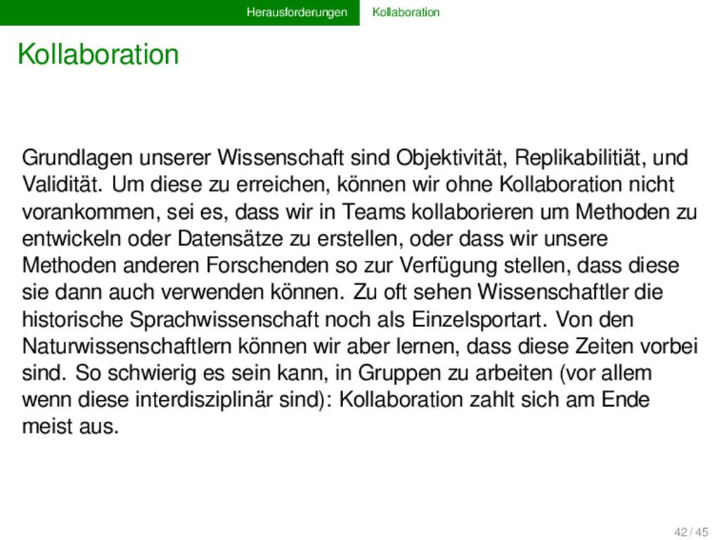 Herausforderungen Kollaboration Kollaboration G...