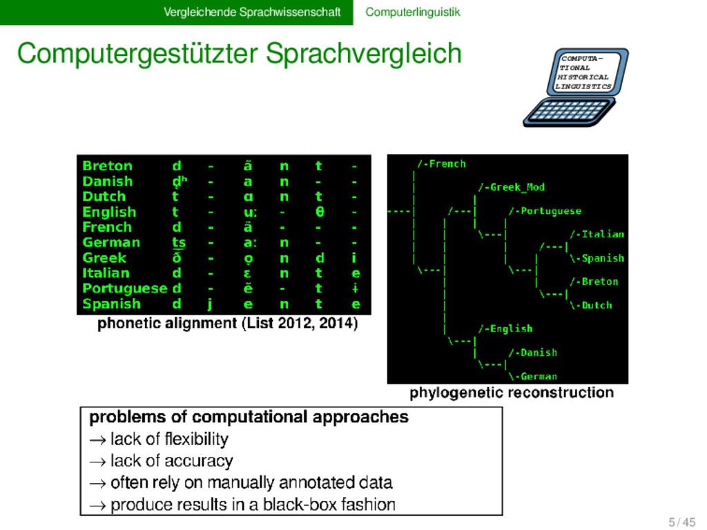 Vergleichende Sprachwissenschaft Computerlingui...