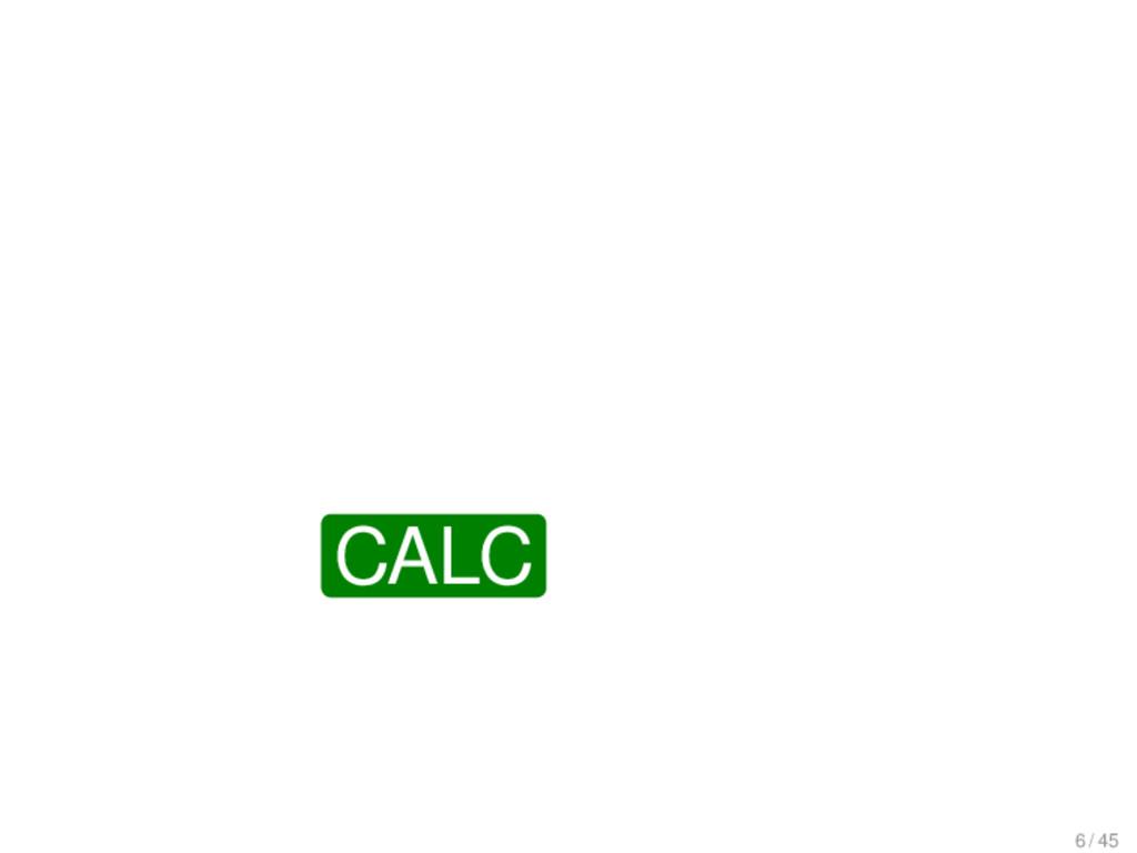 CALC 6 / 45