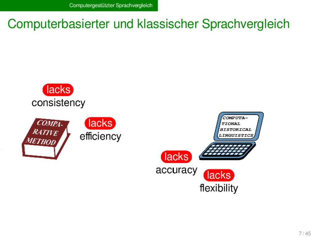 Computergestützter Sprachvergleich Computerbasi...