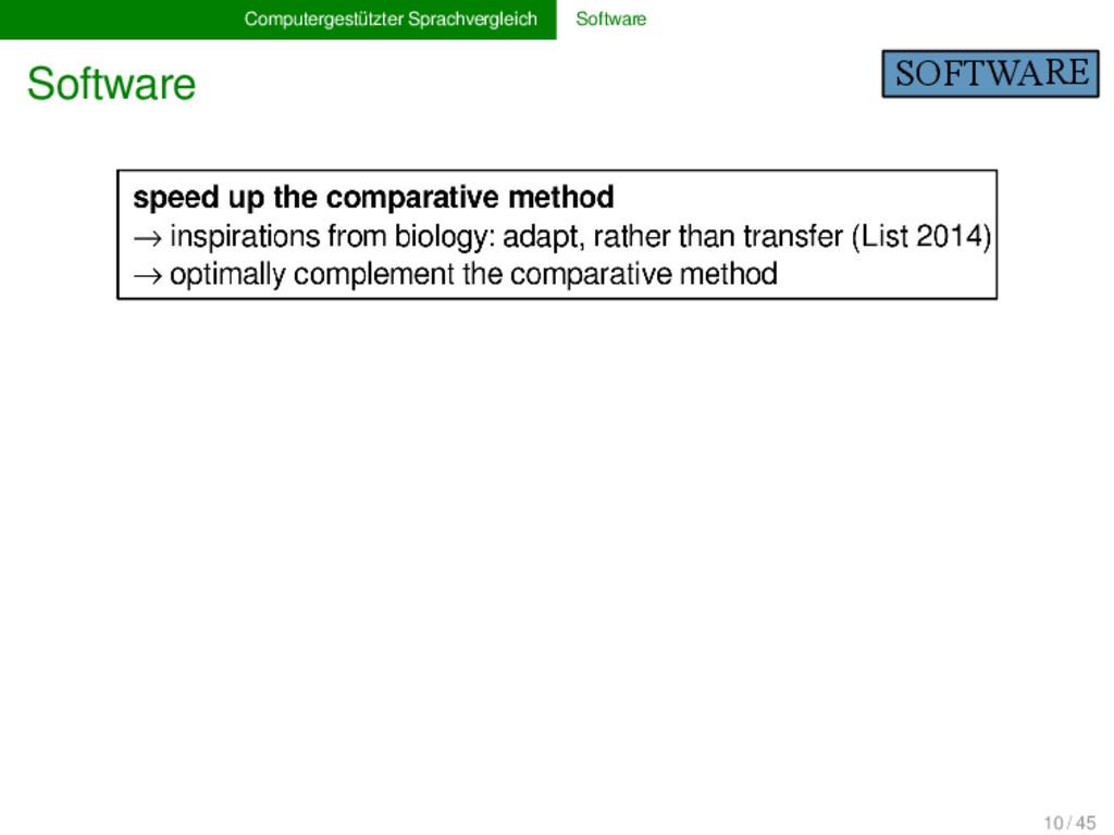 Computergestützter Sprachvergleich Software Sof...