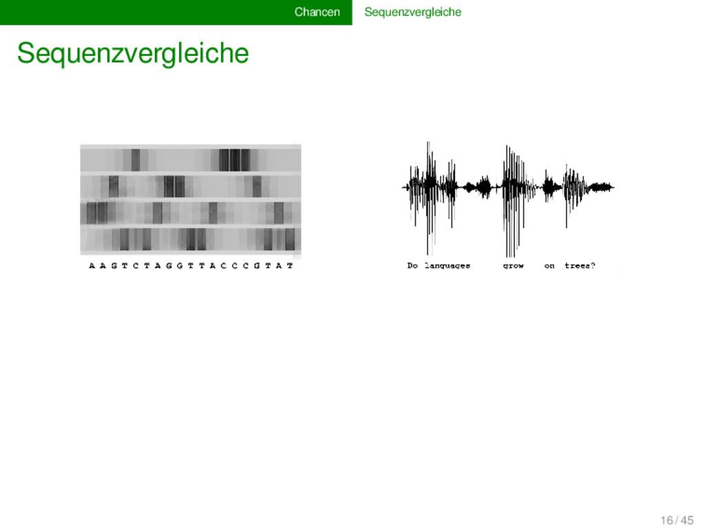 Chancen Sequenzvergleiche Sequenzvergleiche 16 ...