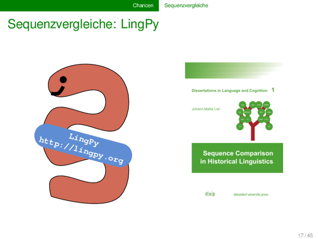 Chancen Sequenzvergleiche Sequenzvergleiche: Li...