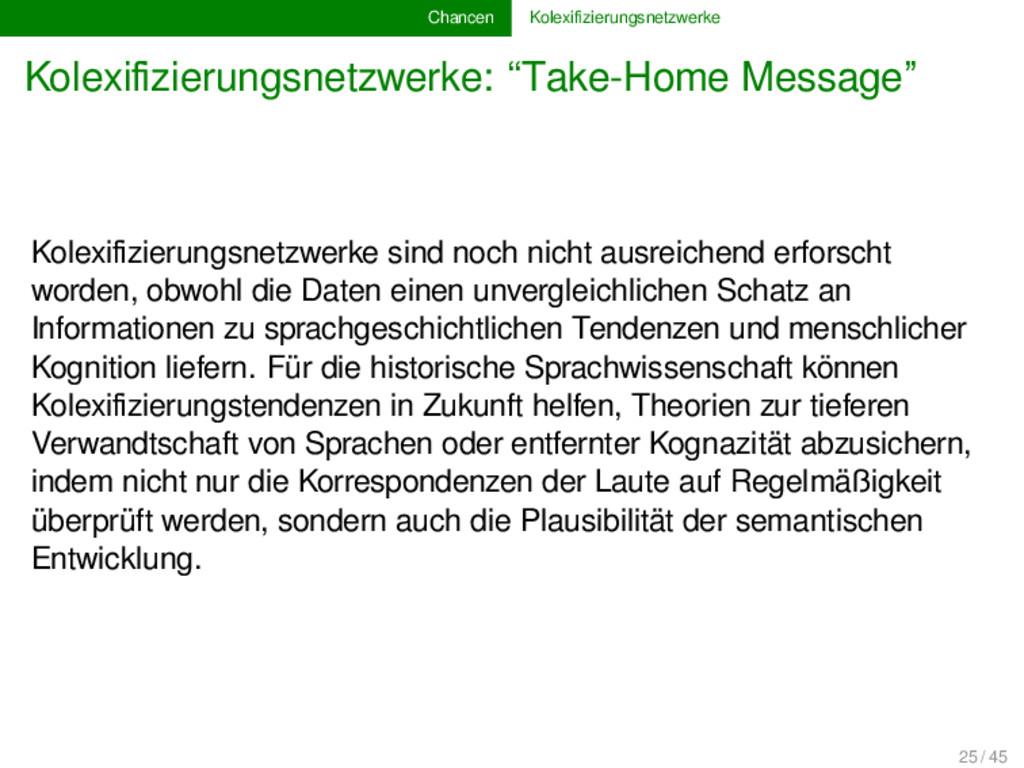 Chancen Kolexifizierungsnetzwerke Kolexifizierung...