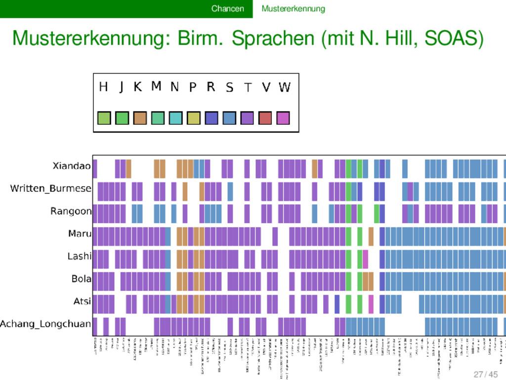 Chancen Mustererkennung Mustererkennung: Birm. ...