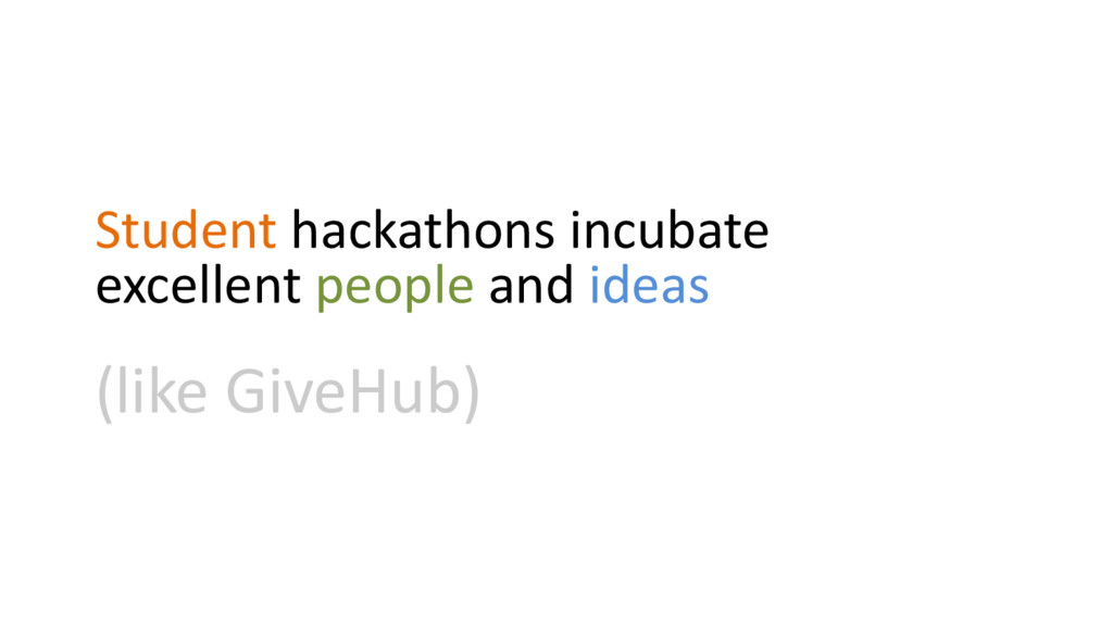 Student hackathons incubate excellent people an...