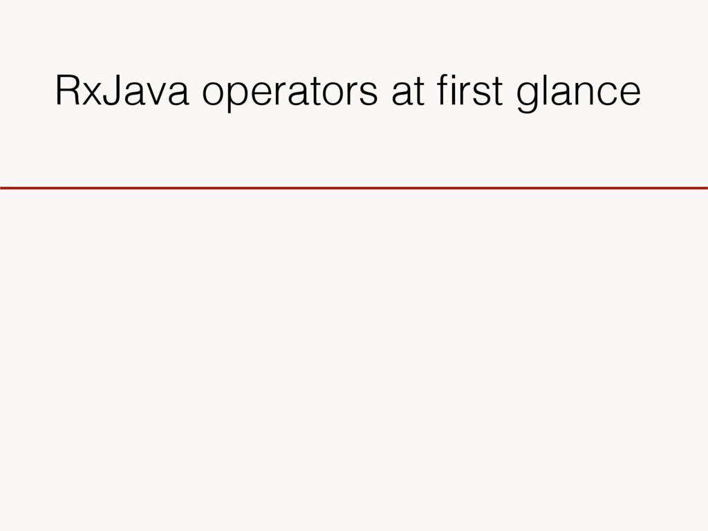 RxJava operators at first glance