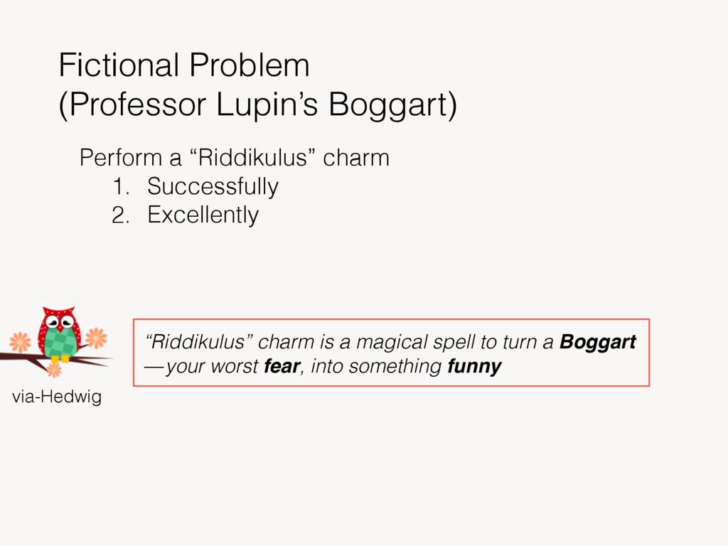 Fictional Problem (Professor Lupin's Boggart) v...