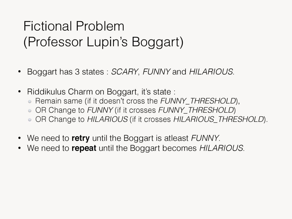 Fictional Problem (Professor Lupin's Boggart) •...