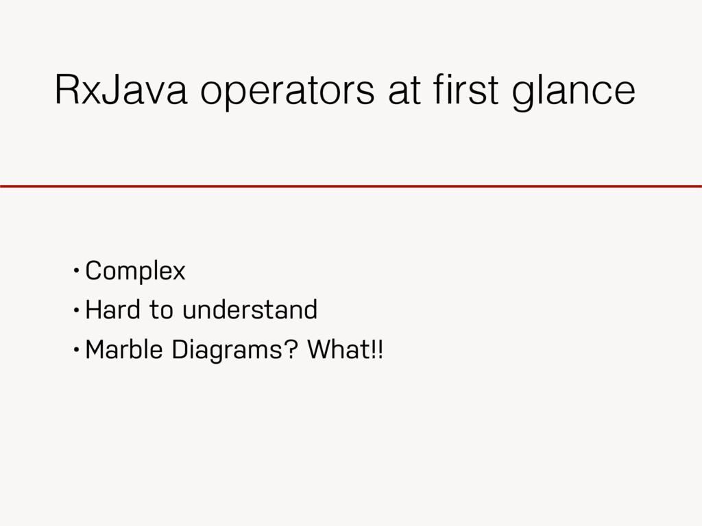 RxJava operators at first glance • Complex • Har...