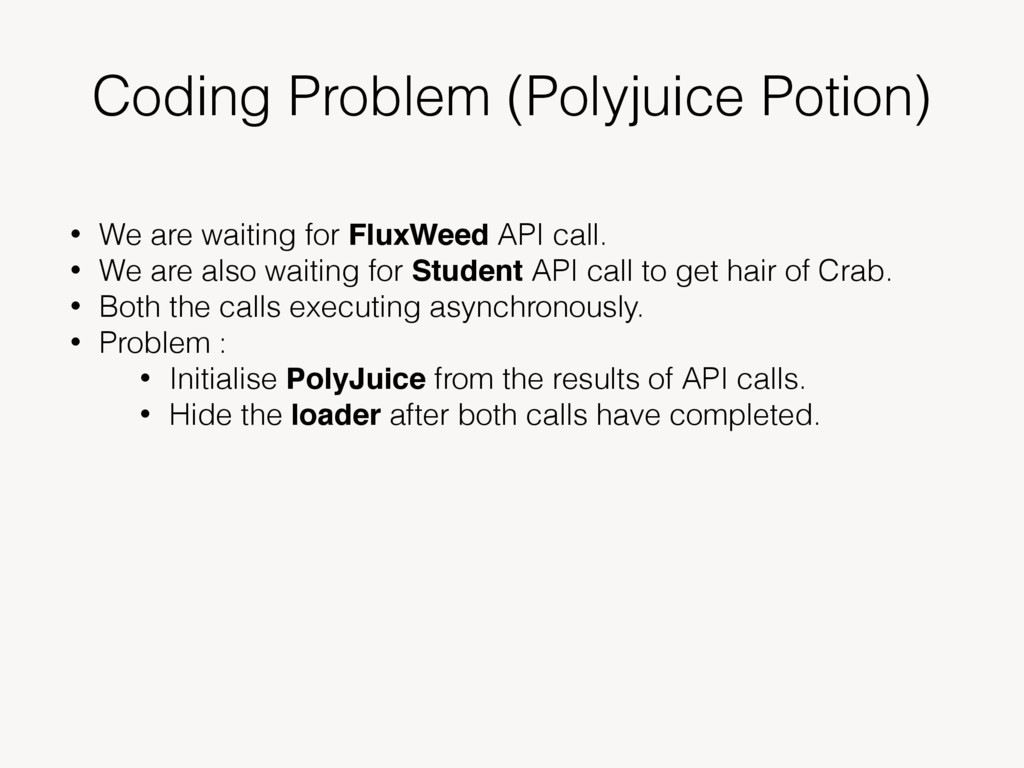 Coding Problem (Polyjuice Potion) • We are wait...