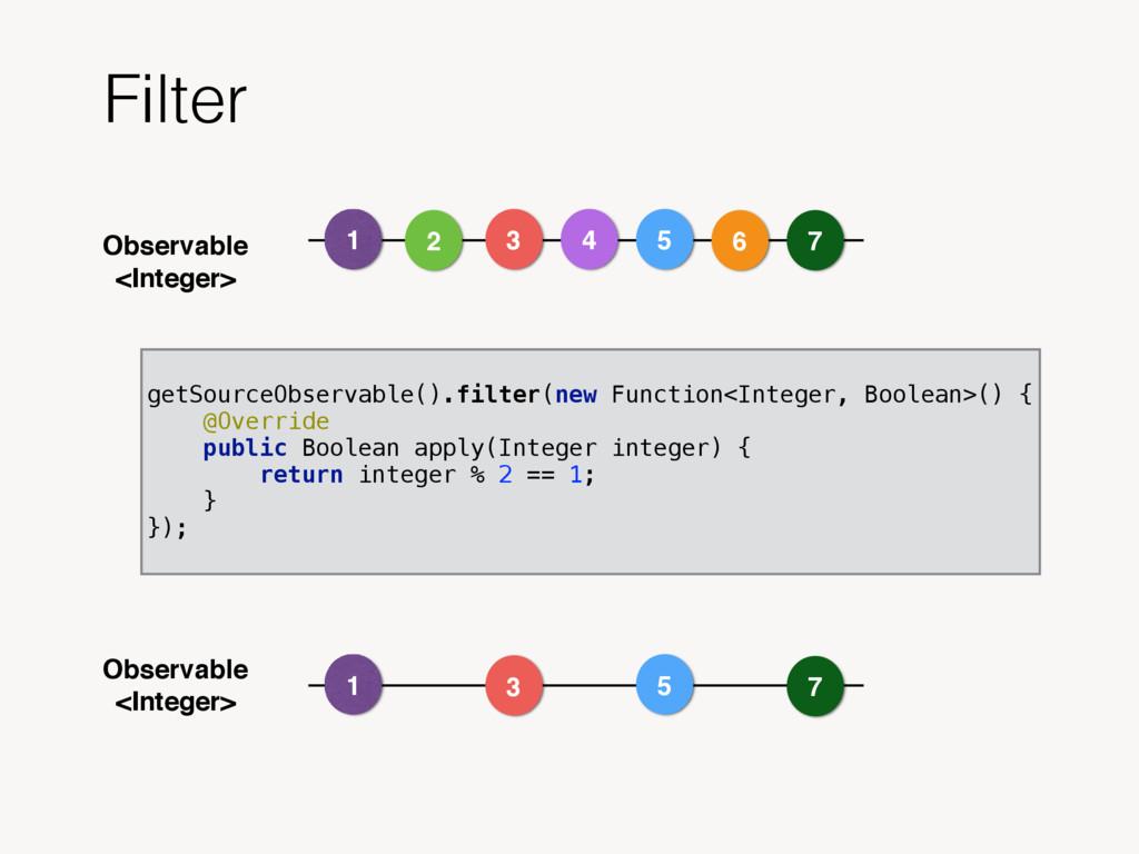 Observable <Integer> Filter Observable <Integer...