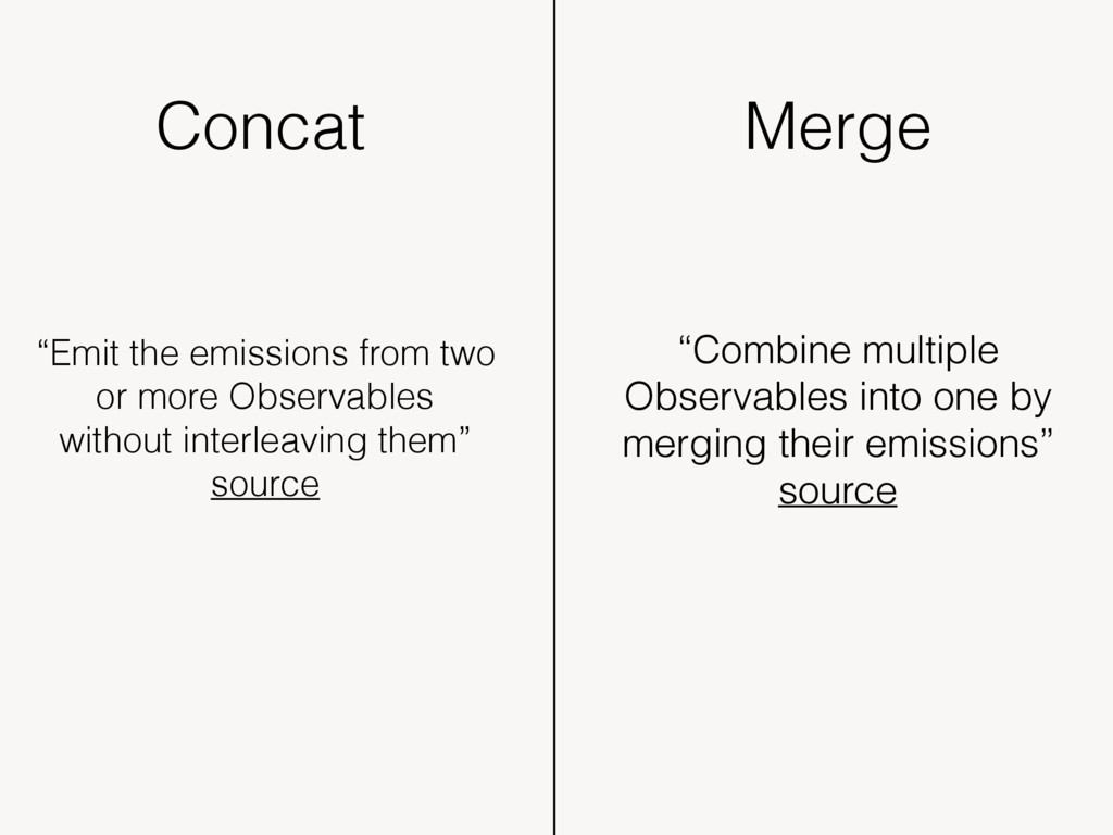 """Concat """"Emit the emissions from two or more Obs..."""