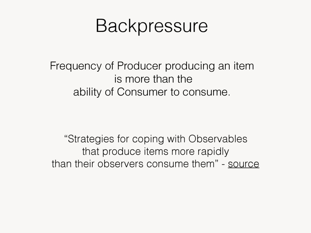 Backpressure Frequency of Producer producing an...