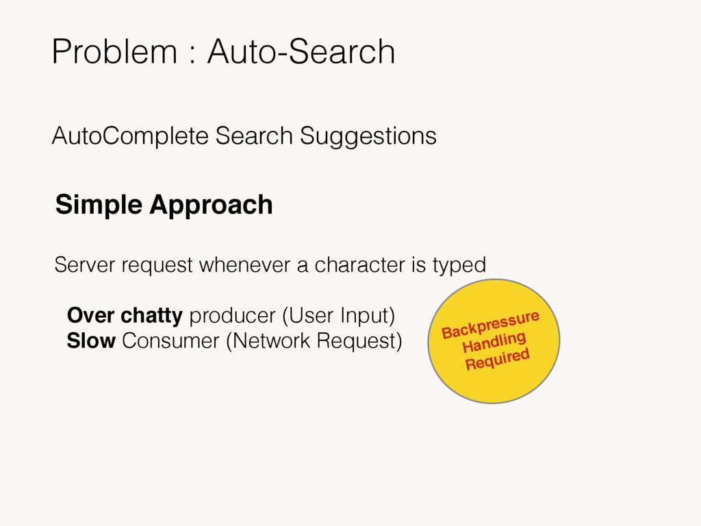 Problem : Auto-Search AutoComplete Search Sugge...
