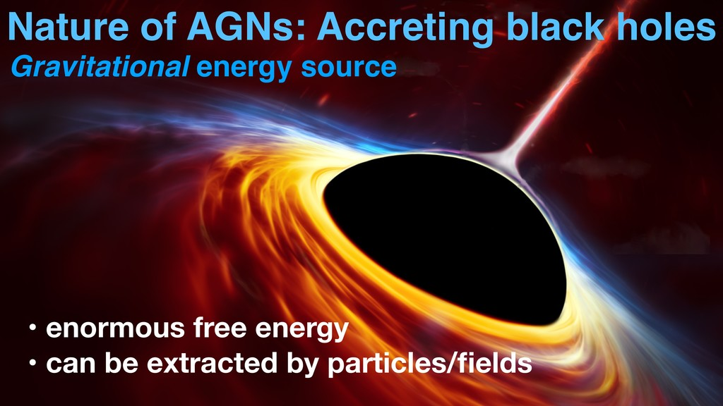 Nature of AGNs: Accreting black holes • enormou...
