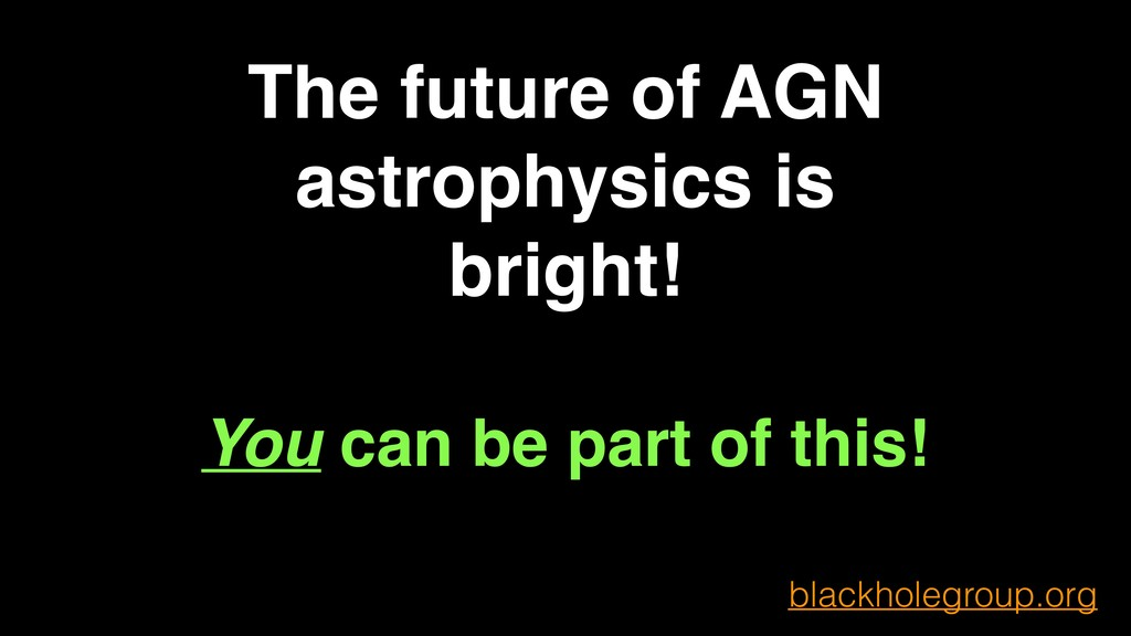 The future of AGN astrophysics is bright! You c...