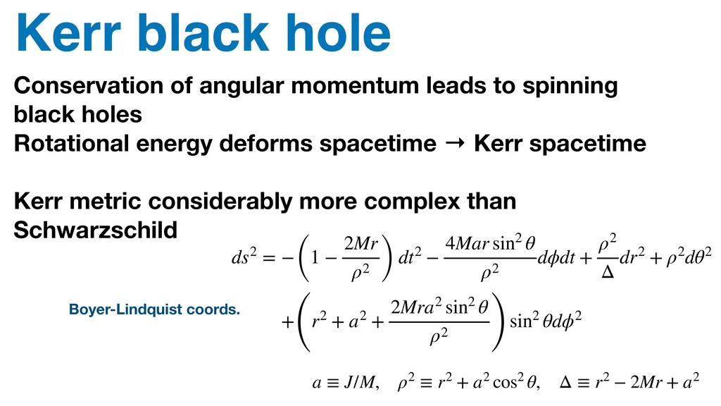Kerr black hole Conservation of angular momentu...