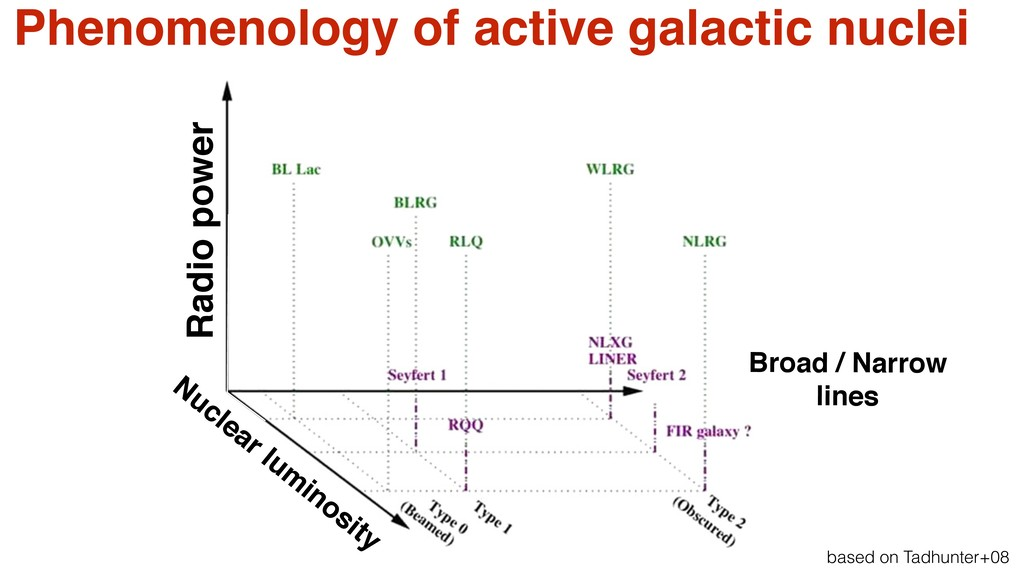 Phenomenology of active galactic nuclei 8 m VLT...