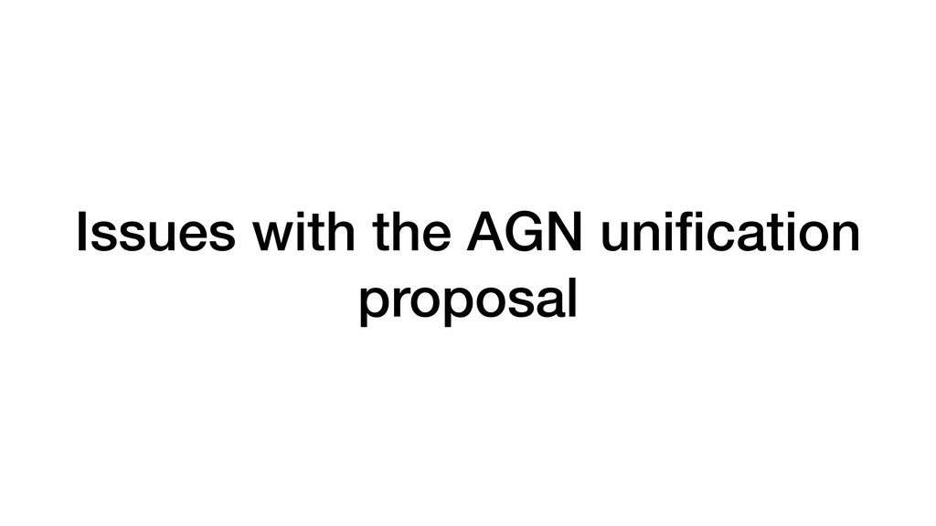 Issues with the AGN unification proposal