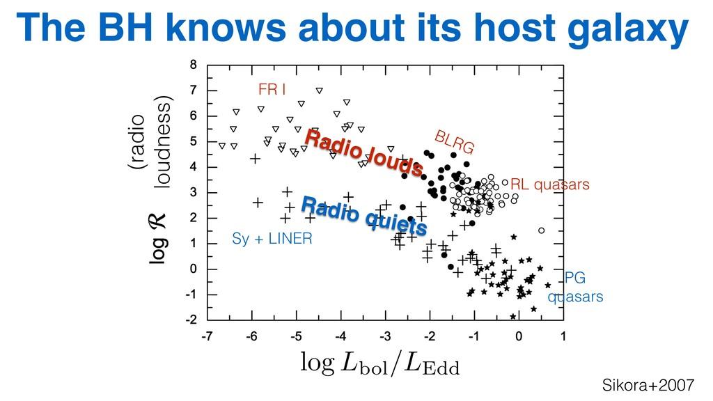 Sikora+2007 log Lbol/LEdd (radio loudness) BLRG...