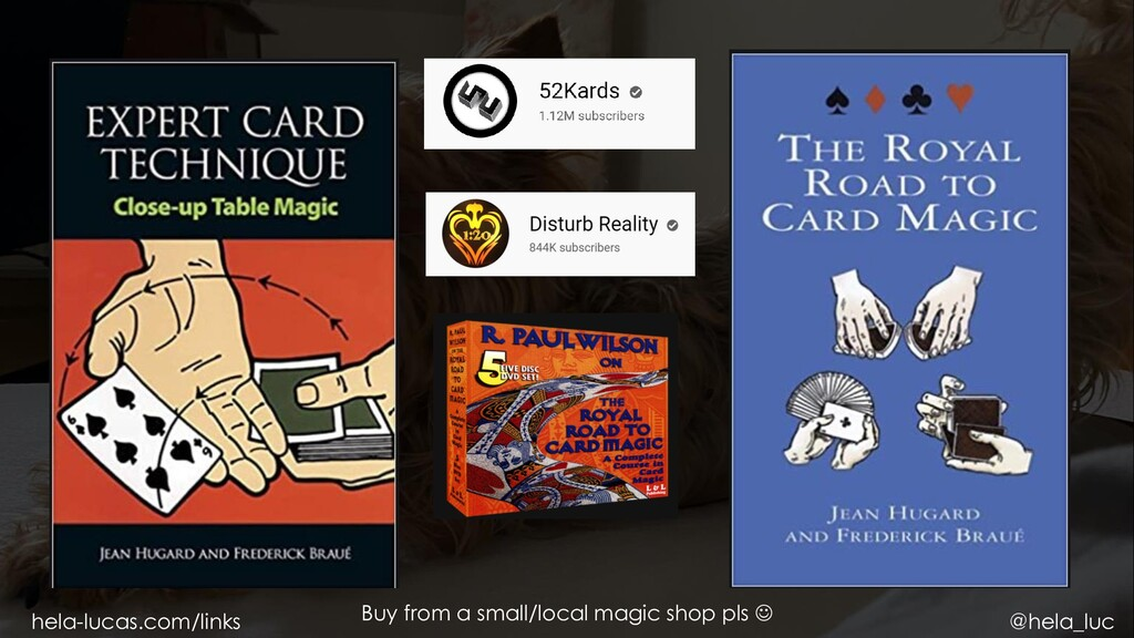 Buy from a small/local magic shop pls  hela-lu...