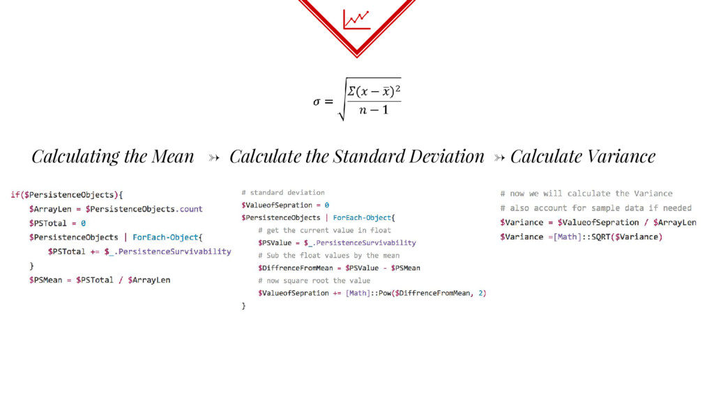 Calculating the Mean → Calculate the Standard D...