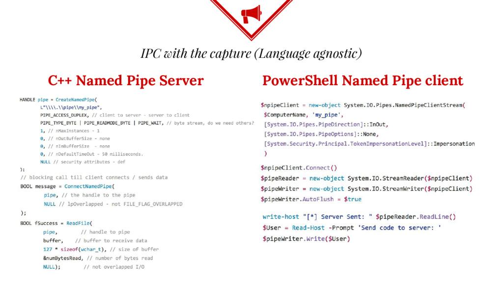 IPC with the capture (Language agnostic) C++ Na...