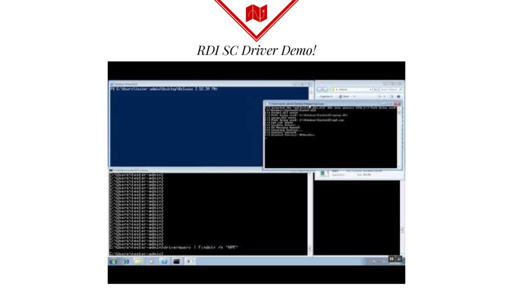 RDI SC Driver Demo!