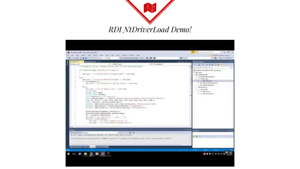 RDI NtDriverLoad Demo!