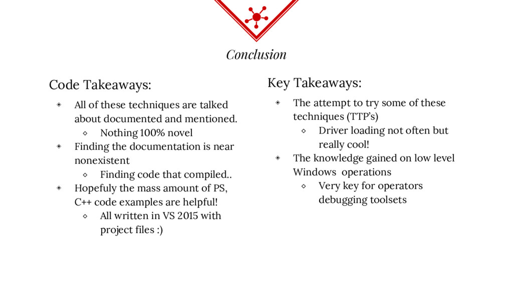 Conclusion Code Takeaways: ◈ All of these techn...