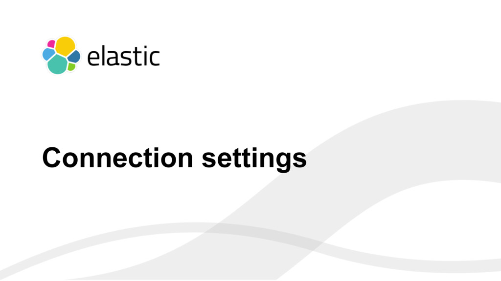 ‹#› Connection settings