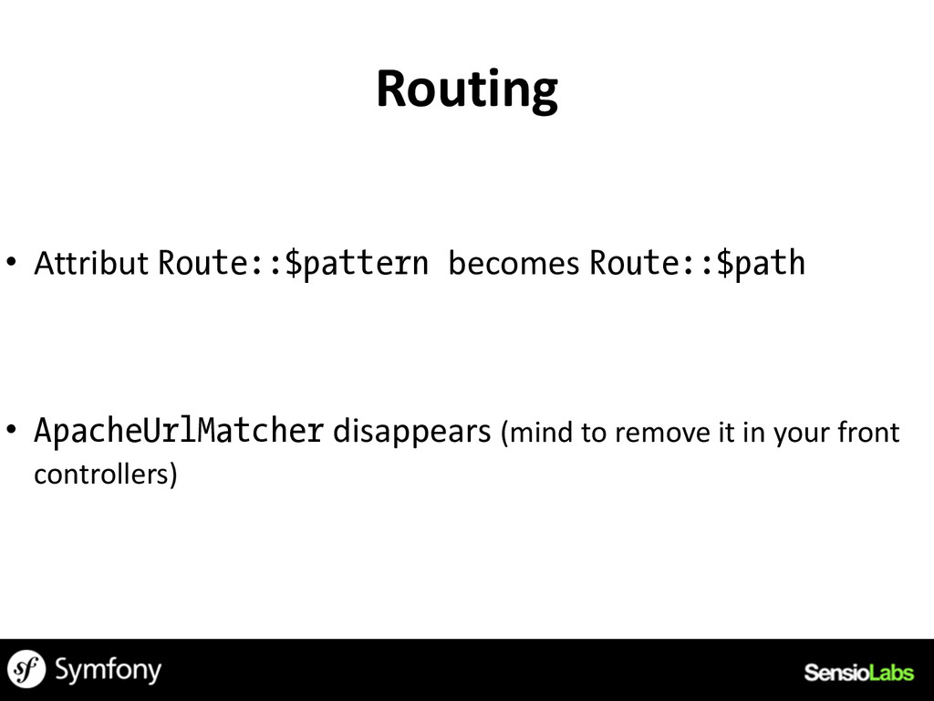 Routing • Attribut	