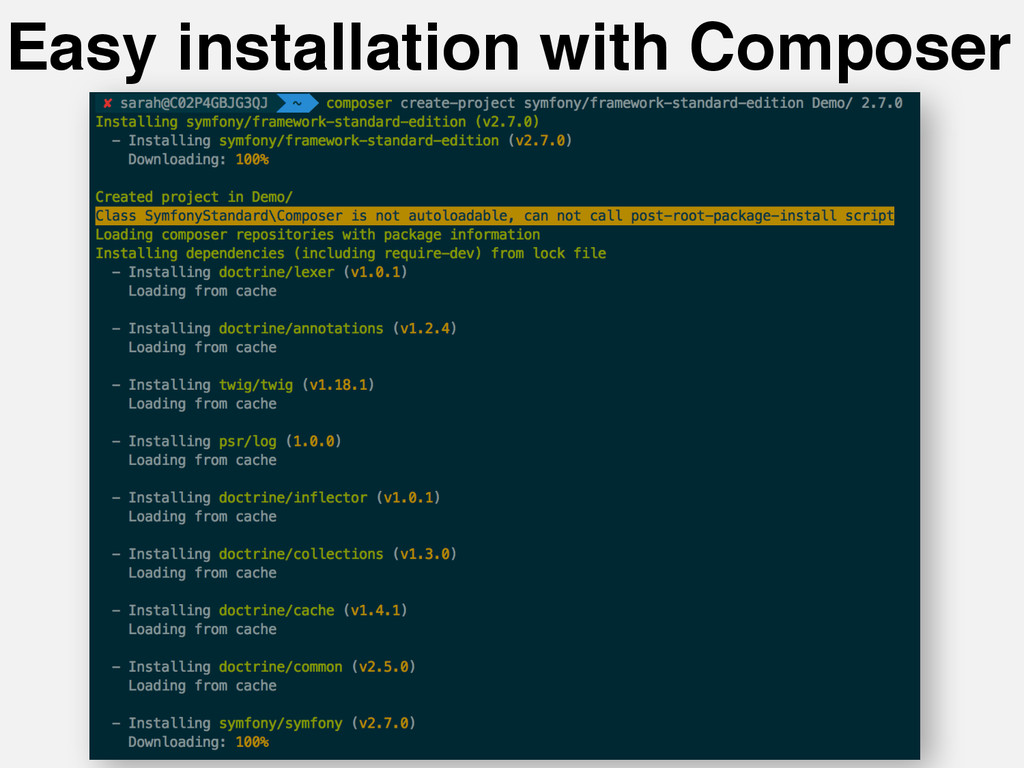 Easy installation with Composer