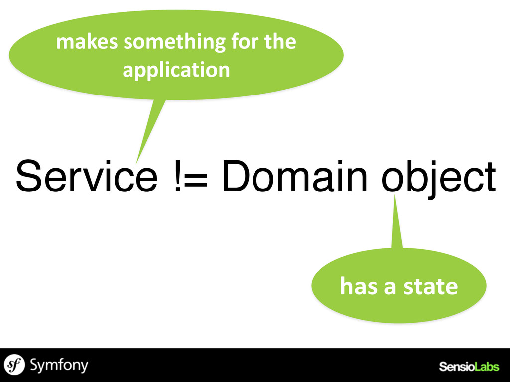 Service != Domain object has	