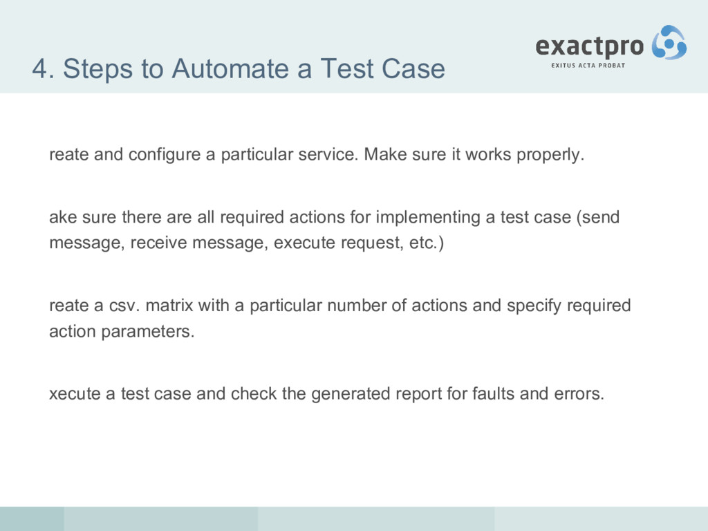 4. Steps to Automate a Test Case reate and conf...