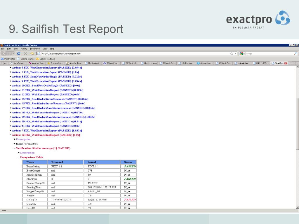 9. Sailfish Test Report