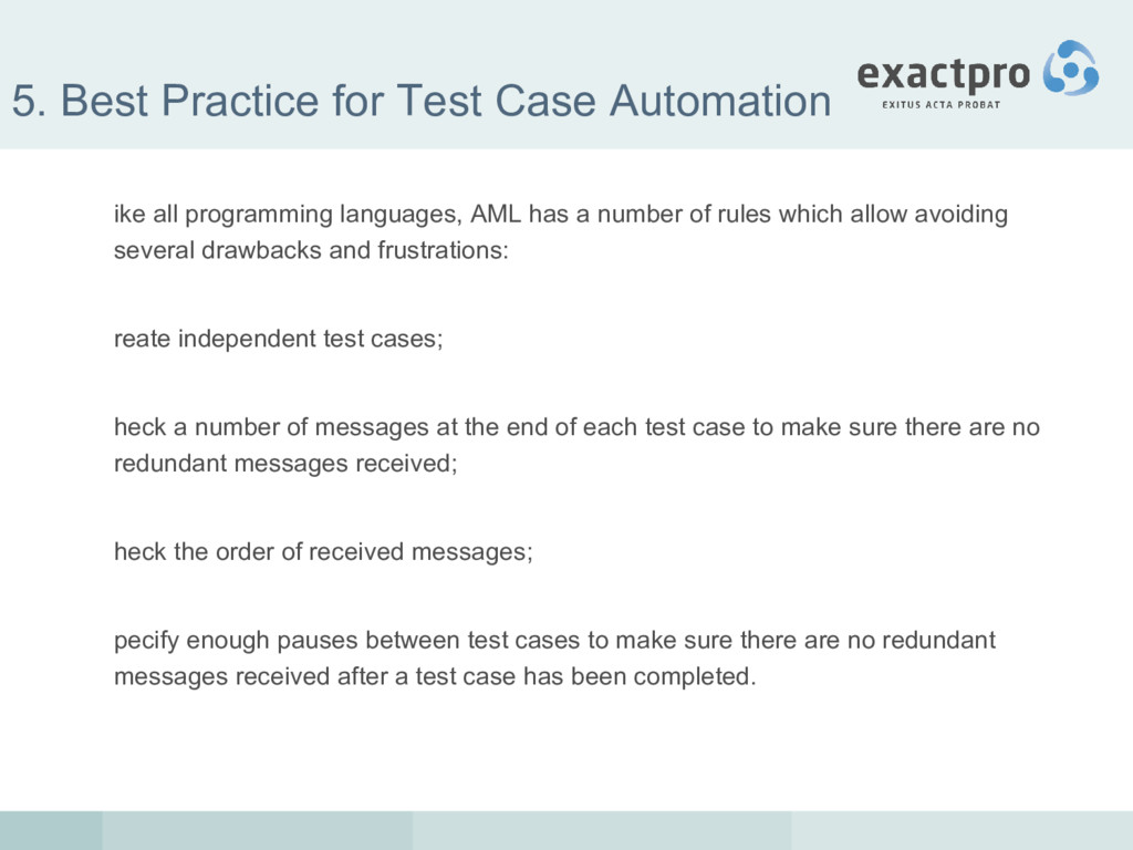 5. Best Practice for Test Case Automation ike a...