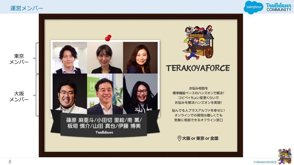 #TERAKOYAFORCE 8 運営メンバー 東京 メンバー 大阪 メンバー