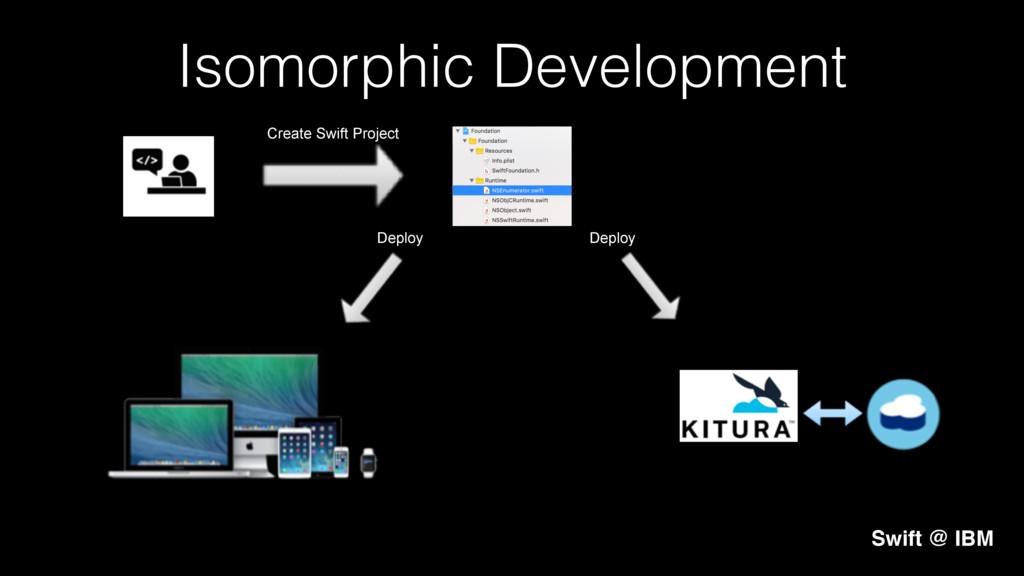 Isomorphic Development! Swift @ IBM Create Swif...