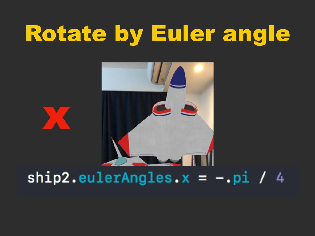Rotate by Euler angle x
