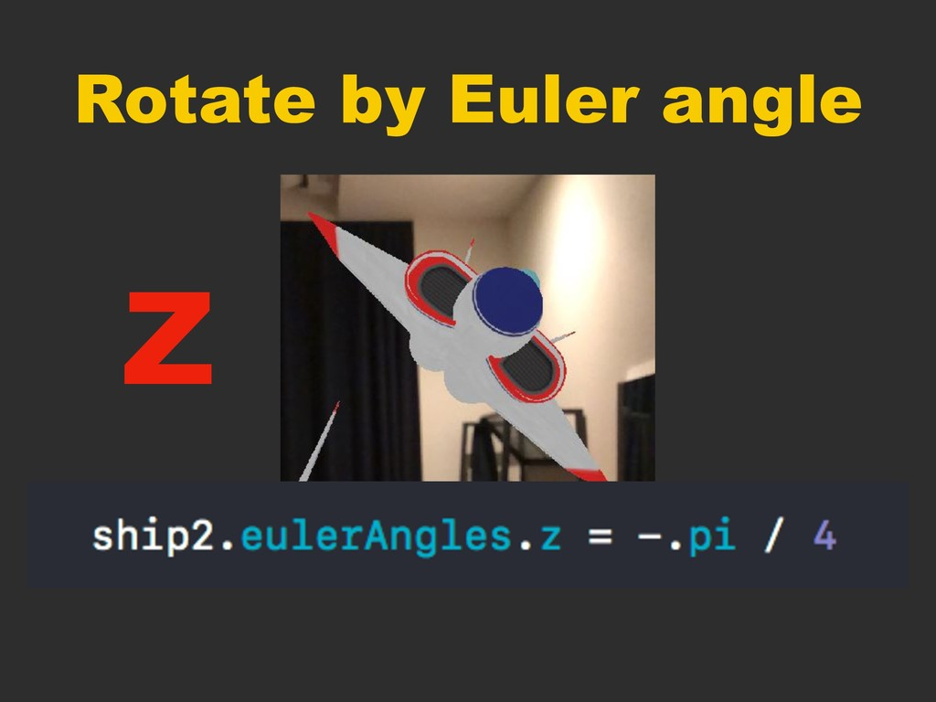 Rotate by Euler angle Z