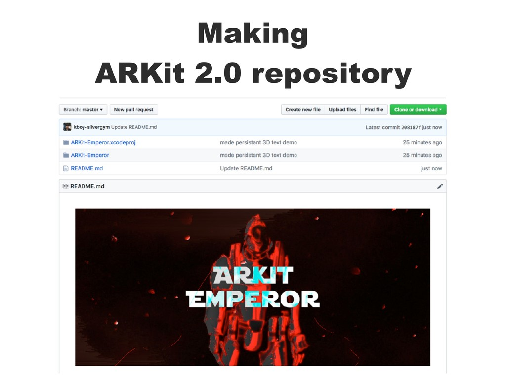 Making ARKit 2.0 repository