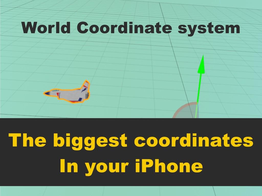 World Coordinate system The biggest coordinates...
