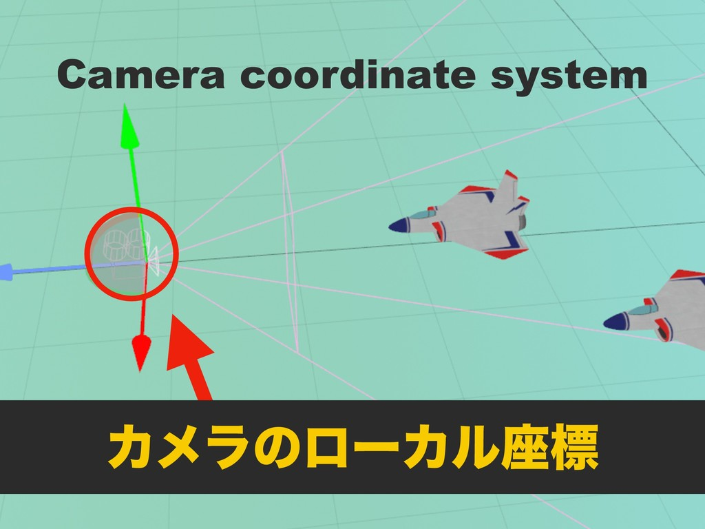 Camera coordinate system ΧϝϥͷϩʔΧϧ࠲ඪ
