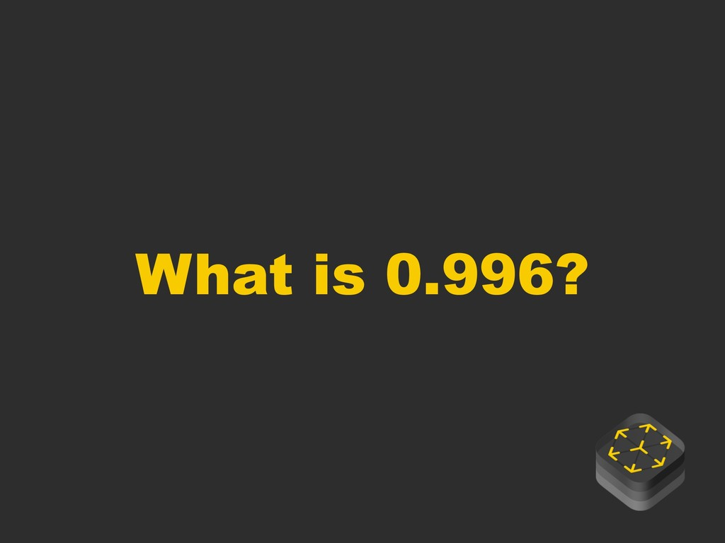 What is 0.996?