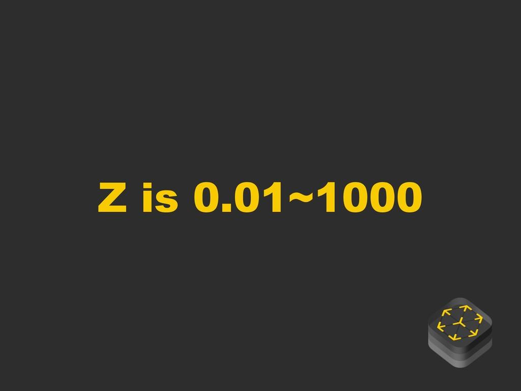 Z is 0.01~1000