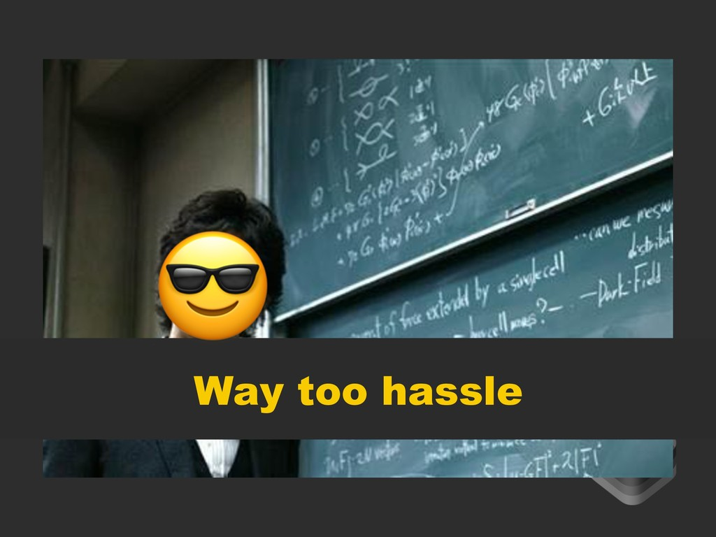 Way too hassle