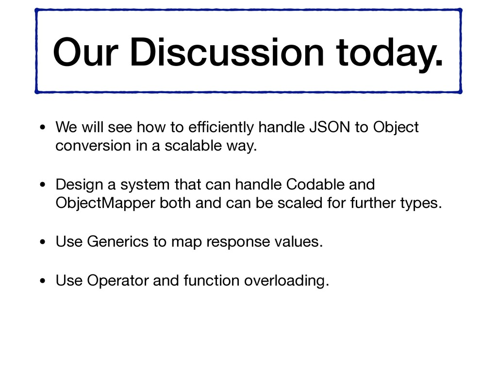 Our Discussion today. • We will see how to effici...